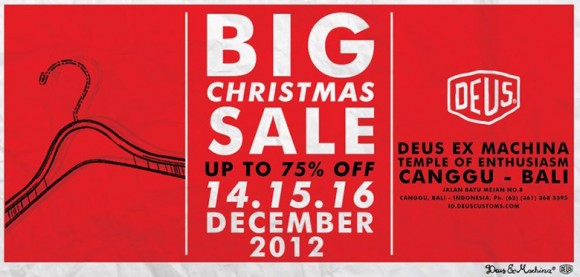 Deus Big Christmas Sale!